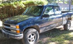 "Looking to Sell my truck QUICK... 1994 Z71 Chev 31"" Mudders (Pretty much new), Blue, Minor rust.. E tested but needs to be certified, Has a back seat, And one arm rest needs to be replace, have one in the back seat brand new just needs to be put on. Good"