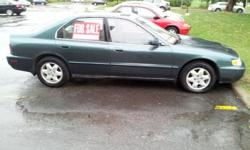 1997 Honda Accord V6 283000kmExtras: 1) Sony CD deck digital with a remote 2) i-pod/ i- phone dock which will play throughout your car speakers? sub-woofer in the trunk3) Has a spare all season tire and toolsCar runs very well and smooth with lots of