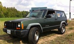 1997 Jeep Cherokee2 DoorRear Wheel Drive1 year old snow tiresTrailer Hitch plus wiring connectionsCD playerGreat ConditionCurrently licensed and daily driver300,000kmsSelling AS ISPrice is negotiable