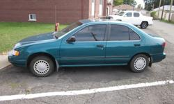 Make NissanModel SentraYear 1996Kilometers 179000Body Type SedanTransmission AutomaticColour GreenDrivetrain All-wheel drive (AWD)Type UsedFuel Type Gasoline Great car for students or first time drivers.Runs great and is fantastic on gas!Comes with set of