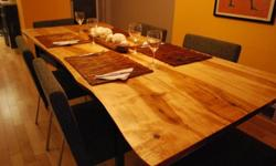 TREEGREENTEAM.COM Check out our website for Artist info and and our huge photo library!LIMITED BLACK WALNUT WOOD SLAB FURNITURE AVAILABLE! Great for DINING TABLES, HARVEST TABLES, COFFEE TABLES, END TABLES, BENCHES and EVEN BEDS!We are almost all reserved