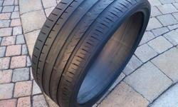 """YOU ARE PURCHASING A (ONE) 1 FALKEN AZENIS FK453 245/30/ZR22 92Y EXTRA LOAD SUPER SPORT PERFORMANCE TIRE. THIS TIRE HAS BEEN TESTED & IS FREE OF ANY LEAKS OR BUBBLES. THIS TIRE HAS 75% (7.5/32) THREAD LIFE RENAMING. WILL FIT ALL CARS WITH 22"""" RIM. THANK"""