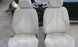 these two seats are in great condition, no stains, pretty much new, they have the brackets and slider im looking for 150 OBO   if interested send an email