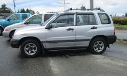 Make Chevrolet Model Tracker Year 2000 Colour Grey Trans Automatic 2000 Chevrolet Tracker 4x4 , 4 cyl , Automatic , Power windows , air, tilt , ect Really nice $2499 Warranty included in Price Please Call Ross At 250753-1900 or 250729-5354 Dealer number
