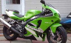 ZX-7R in good shape. New tires this year, new brakes, gold series chain, yoshimura exhaust, runs great no issues.  Have some extra parts to go with the bike. This is a bigger sport bike then the R6 or CBR frame wise. Bike needs nothing for a safety. Trade
