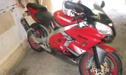 VERY fast bike. Needs nothing but a rider. The color is red and white. ready to go. This ride is the racing version of the ninja. I'm going bigger next year that why i'm selling it this year. it's a very fast bike. New brakes and all the fluid has been