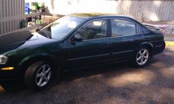 Make Nissan Model Maxima Year 2000 Colour Green kms 208000 Trans Automatic 2000 nissan maxima se v6. Drives great and in great shape in and out. Only issue is stall sometimes. Believe it is a fuel pressure regulator or something simple. Just want car