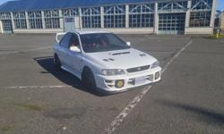 Make Subaru Colour white Trans Manual kms 146200 right hand drive subaru sti imported in spring of 2015, i am the second owner since being imported, runs and drives great has god speed adjustable coilovers, front and rear shock tower braces, hood scoop