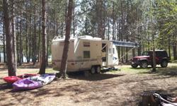 $7400 OBO This camper is a Trail Lite, meaning lighter towing capacity. Here are the perks! NEW PHOTOS UPLOADED!!! a MUST SEE!!! - Ready to take on a couple of last trips before the winter! - 23 foot - towing weight (empty) 2200 kg - VERY CLEAN, and