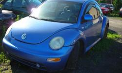 DISMANTLING 2000 VW BEETLE FOR PARTS, AUTO, AIR, POWER WINDOWS AND DOORS, STARTS AND DRIVES, CAN SELL PARTS OR THE COMPLETE CAR, REASONABLE PARTS PRICES, (613)761-0359