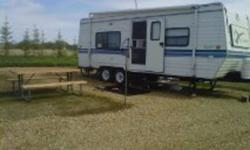 24 ft travel trailer, excellent condition only two owners. gas and electric hotwater, dual 12 volt batteries with converter for charging. 9000 obo.