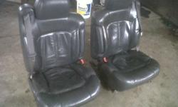 got seats out of my 2001 Chevrolet Silverado 2500HD.only selling cuz upgraded to SS seats Seats are fully loaded with heat,lumber,tilt have connector and heated switch to go with it. passenger seat is excellent shape, and driver good shape just needs a