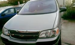 Make Chevrolet Model Venture Year 2001 Colour Silver kms 95400 Trans Automatic Very good condtion, wind shield has a crack, and only has 95,000 kms. New winter tires AutoStarter Power mirrors Power sliding doors Power steering Power trunk Power windows