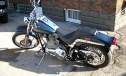FOR SALE:       AWESOME LOOKING HARLEY!!!   I HAVE A 2001 FXST HARLEY DAVIDSON SOFTAIL STD VANCE AND HINES PIPES, DRAG BARS, CHROME OUTER PRIMARY, 160 BACK WHEEL.  THIS BIKE IS LIKE NEW AND IT HAS ALWAYS BEEN WELL LOOKED AFTER!   NEEDS TO BE SEEN TO