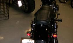 Nice clean sportster bobbed out with fresh powdercoat on front end and rims. fresh black paint.custom exhuast. relocated coil and ignition. bullet lights. sidemount plate. mini ape hangers. high performance stainless steel cables and new skins. lots of