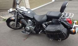 Beautiful bike with low km 37000Km. Windshield, footrest saddlebags.