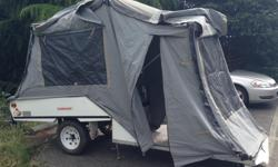 We have a 2001 'Kamparoo Cub' tent trailer for sale for $3000. If you have a very small vehicle(Smart for two, Yaris), this tent trailer is a minimalist dream. Sets up incredibly easily and quickly. If you decide your set up tent trailer is in the wrong