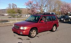 Make Subaru Model Forester Year 2001 Colour red kms 400000 Trans Automatic After 13 yrs, It is time to find a new home for our Subaru Forester. This car has been everywhere with us..ski trips, mountain holidays, whitewater trips, cycling adventures,