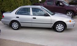 Colour Silver Trans Automatic kms 214000 1.8L 4 cylinder engine, automatic, air/tilt/cruise. Car is in good shape and runs well. Comes with remote start and extra set of winter tires on rims.