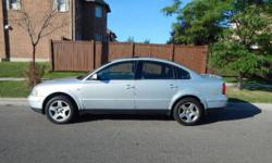 Make Volkswagen Model Passat Year 2001 Colour Silver kms 183000 For sale by owner is a Volkswagen Passat with 183,000 kms. This vehicle is in excellent condition and has been exceptionally well maintained . It is the perfect daily driver, and great for