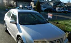 Make Volkswagen Model Jetta Year 2001 Colour Silver kms 275000 Trans Automatic TDI - DIESEL SUPER CLEAN GREAT ON GAS 900 KMS TO A TANK AUTOMATIC WELL TAKEN CARE OF. FULLY LOADED - LEATHER/HEATED - SUNROOF.- AC. RECENT NEW FRONT TIRES AND BRAKES - NEW