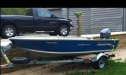 2002 princecraft fisherman 14' 2002 Yamaha 15hp fourstroke 2002 easy loader trailer Minnkota electric trolling motor 2 seats, SAFTEY kit, gas tank great condition, always maintained, no leaks.