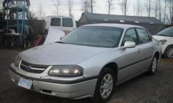 "DISMANTLING 2002 CHEVY IMPALA FOR PARTS, 212K, STARTS AND DRIVES, GOOD ENGINE AND TRANNY, GOOD BODY PARTS, 16"" RIMS, (613)761-0359."