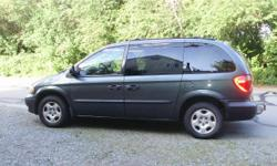 Make Dodge Model Caravan Year 2002 Colour Onyx Green kms 296500 Trans Automatic Seven-seater mini-van with auto transmission, tilt, cruise, a/c (not working), good stereo with CD, tow hitch. Needs new radiator and one tire has a slow leek. Probably other