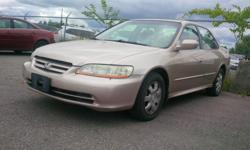 Make Honda Model Accord Year 2002 Colour GOLD kms 113000 Trans Automatic Price includes SAFETY and E-TEST power group,,Air Conditioning,Power locks, Power mirrors ,Power steering, Power windows, carproof history report is available If your are interested
