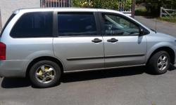 Make Mazda Model MPV Year 2002 Colour Silver kms 211500 Trans Automatic Mazda mini van runs good no issues. It seats 7 and the rear seats are the easiest seats I ever removed to open up total space behind the driver seat, takes mere seconds and a pull