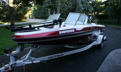 2002 Nitro Sport 188 Fish and Ski. Perfect all around Boat. This boat is perfect for all water sports. Fishing: C/W two live wells, cooler, Dash mounted Garmin GPSMAP 440S combination GPS and sonar unit. It has Ontario inland lakes and great lakes loaded.