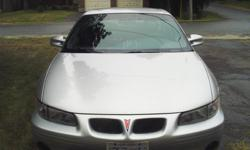 Make Pontiac Model Grand Prix Year 2002 Colour Silver kms 164000 Trans Automatic 3.8 Litre V6 MFI, AM/FM Stereo with CD, Cloth interior, Leather wrapped steering wheel, Reclining front bucket seats, 6-Way Power Drivers Seat, Remote start, Rustproofed at