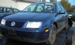 DISMANTLING 2002 VW JETTA 1.8T FOR PARTS, REAR END DAMAGE, ONLY 150K, GOOD FRONT END, GOOD ENGINE AND TRANNY (5 SPEED MANUAL), REASONABLE PARTS PRICES. (613)761-0359.
