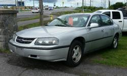 Make Chevrolet Year 2003 Colour Silver Trans Automatic kms 182000 2003 Chevrolet Impala 3.4l V6, Automatic, A/C, Cruise, Keyless entry, Power windows/locks/mirrors & seat. 182 000 KM Certified with E-Test. Taxes are not included in listing price. ----- As