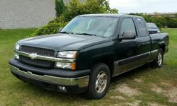Make Chevrolet Model Silverado 1500 Year 2003 Colour Green kms 163000 Trans Automatic 2003 Chevrolet Silverado 1500 LS 5.3l V8, Automatic, ABS, A/C, Cruise Control, Power windows/locks/mirrors & seat. Bedliner. 163,000 km. Certified with E-Test included.