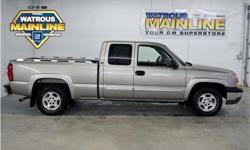 Make Chevrolet Model Silverado 1500 Year 2003 Colour Light Pewter Metallic kms 212247 Trans Automatic Price: $5,995 Stock Number: J1644C VIN: 2GCEC19T331222895 Interior Colour: Grey Engine: Gas V8 5.3L/325 Cylinders: 8 Fuel: Gasoline Come see this 2003