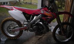 For sale is a very nice 2003 honda CR 250 2 stroke. bike runs great starts right up 5 hours on new top end, has pro taper fat bars, new grips, FMF pipe front to back and graphics kit, have ownership $2850 obo NO TRADES!  call text or email 905 449 8120