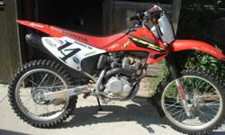 hey guys i have a 2003 crf230f for sale. its an awesome bike, never let me down. put a new tire on it halfway through the season and havent ridden it much. im asking 2200 obo and will consider trades for a bigger dirtbike or pickup truck just let me know
