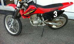 Part of Honda's line of four-stroke trail motorcycles, the CRF 230F is a full-sized motocross bike designed mainly for use off-road. Whether you're a competitive racer who wants a motorcycle that can hold its own in rough-terrain endurance challenges, or