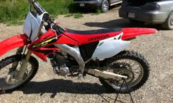 Selling my 2003 CRF 450R. Asking price is $3300 but will take reasonable offers. i bought this bike this year. but hardly used it. never even burned a tank of fuel. Feel free to msg, or call. Bike is located in Grimshaw, Ab