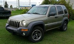 Make Jeep Model Liberty Year 2003 Colour Gold kms 186440 Trans Automatic 2003 Jeep Liberty Sport 4X4 3.7l V6, Automatic, ABS, A/C, Cruise control, Power windows/locks/mirrors & seat. 186,440 km. Certified with E-Test included. Taxes are not included in