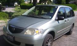 Make Mazda Model MPV Year 2003 Colour Light green kms 200000 Trans Automatic Van runs great! Selling AS IS--$995 or best offer AC front and rear power windows and locks AM/FM radio/tape deck/CD automatic transmission Please call 613-828-7398 if