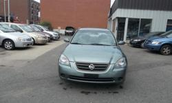 Make Nissan Model Altima Year 2003 Colour olive green kms 177000 Trans Automatic Automatic, AC, 4 Doors Sedan, 4 cylinders engine very good in gas, power windows, power lock, cruise control, power mirror, clean car, rust proofed, no rust , very well