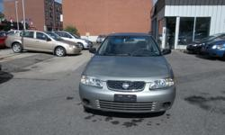 Make Nissan Model Sentra Year 2003 Colour gray kms 160000 Trans Automatic Automatic, AC, 4 Doors Sedan, 4 cylinders engine very good in gas, CD player, clean car, rust proofed, no rust , very well maintain, 160000 km , recently passed OBD2 E test, you