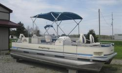 * Fishing & Cruising Model * 8'w x 20'l * 2003 Johnson 40hp * 4 Stroke * Fuel Injection * Dual Station Power Tilt * 4 Swivel Fishing Seats * Storage Compartment Under Seats for Gear * 2 Live Wells * Tackle Box Compartment * Fishing Rod Holder Compartment