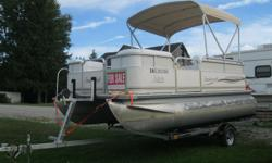 2003 Smokercraft 16' Pontoon Boat w/2003 Mercury 40hp 4 Stroke & New 2016 Excalibur Trailer Included * 2003 Mercury 40hp 4 Stroke * Power Tilt, dual station * Boat 16 ft long x 8 ft wide * Seats 10, Full Furniture * Furniture is new in excellent