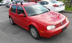 Make Volkswagen Model Golf Year 2003 Colour Red kms 192100 Trans Automatic Selling my 2003 VW Golf, it has automatic transmission, air conditioner, brakes has passed safety, and like new all season tires. It drives great, it was all fixed up for the