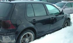 """Dismantling 03 Golf 5 Door for parts. Red, 5 Speed, 2.0L Engine, 154K. Good Engine and Transmission, Doors, Interior, 15"""" Rims and Tires, Rear End. Dismantling 03 Golf 5 Door for parts. Black. Dismantling 00 Golf 2 Door for parts. Silver. Tons of good"""