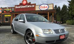 """Make Volkswagen Model Jetta Year 2003 Colour Silver kms 199000 Trans Manual THIS IS A STEAL OF A DEAL! - Leatherette interior ? - Sunroof ? - Heated seats ? - Touge Motegi 18"""" wheels ? - Low profile Handkook tires ? Engine Size: 1.9 L Engine Type: 4"""