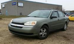 Make Chevrolet Model Malibu Year 2004 Colour Green kms 186325 Trans Automatic 2004 Chevrolet Malibu LS 3.5l V6, Automatic, with Air Conditioning, Keyless Entry, Cruise Control, Power windows/locks/mirrors and pedals.186,925 km. Certified with E-Test